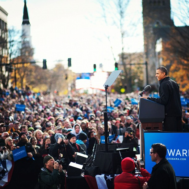 Barack Obama in New Hampshire this morning.