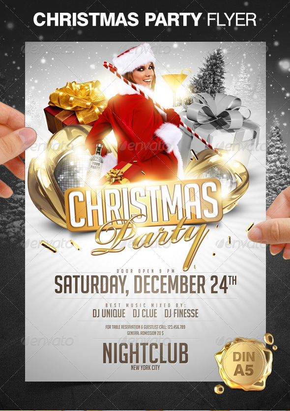 christmas party flyer pressgrid